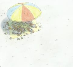 Souris à la plage Parasol Iwamura.JPG